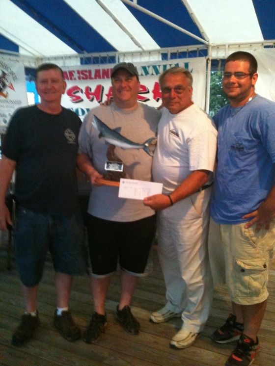 The Rainbow took First Place in the 2011 Star Island Shark Tournament.  The proud anglers chartered the boat for the following year and celebrated another victory as the Calcutta Winners in 2012.